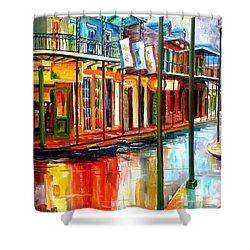 Downpour On Bourbon Street Shower Curtain by Diane Millsap