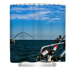 Downriggers Shower Curtain