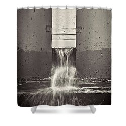 Downspout Shower Curtain