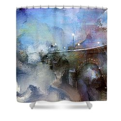 Downtown Bridge Over The Grand Grand Rapids Michigan Shower Curtain