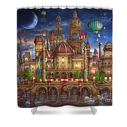 Downtown Shower Curtain by Ciro Marchetti
