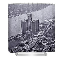 Downtown Detroit Shower Curtain