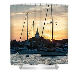 Downtown Glow Shower Curtain