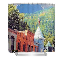 Shower Curtain featuring the photograph Downtown Historic Wallace Idaho by Janette Boyd