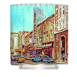 Downtown Montreal Shower Curtain by Carole Spandau