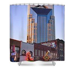 Downtown Nashville Shower Curtain by Brian Jannsen