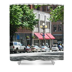 Downtown Neighborhood Shower Curtain