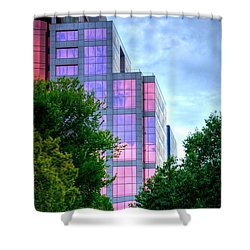Downtown Reflections 17341 Shower Curtain by Jerry Sodorff