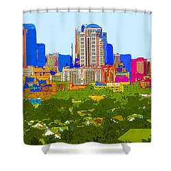 Downtown St. Louis From The Southwest Abstract Shower Curtain