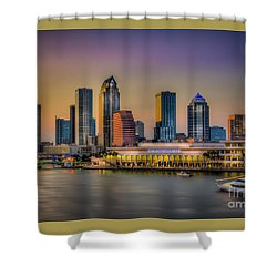 Downtown Tampa Shower Curtain by Marvin Spates