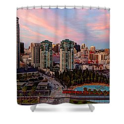 Shower Curtain featuring the photograph Downtown View San Diego by Heidi Smith