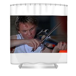 Dr. Draw Shower Curtain
