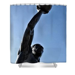 Dr. J. Shower Curtain by Bill Cannon