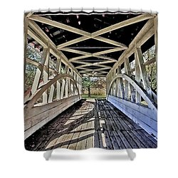 Shower Curtain featuring the photograph Dr. Knisely Covered Bridge by Suzanne Stout