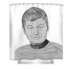 Dr. Leonard Mccoy Shower Curtain