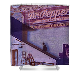 Dr Pepper Blues The Way It Was Shower Curtain by Tony Rubino