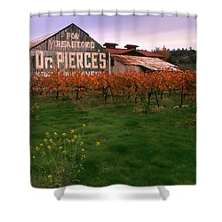 Dr Pierce's Barn Billboard Shower Curtain by Jerry McElroy