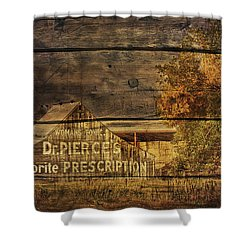 Dr. Pierce's Barn Shower Curtain by Priscilla Burgers