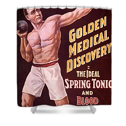 Dr Pierces Spring Tonic And Blood Shower Curtain by Science Source