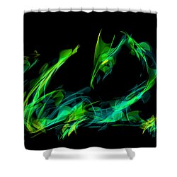 Draconus Emeraude Shower Curtain