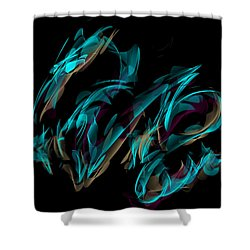 Draconus Labradorite Shower Curtain