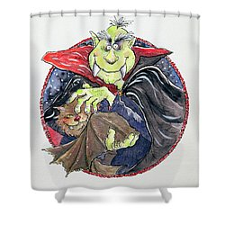 Dracula Shower Curtain by Maylee Christie