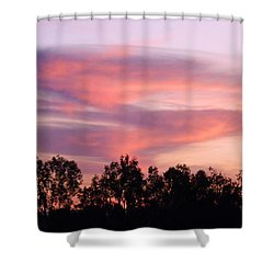 Shower Curtain featuring the photograph Dragon Clouds by Meghan at FireBonnet Art