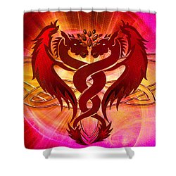 Dragon Duel Series 15 Shower Curtain