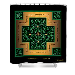 Dragon Egg Celtic Cross Shower Curtain