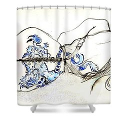 Dragon Girl Shower Curtain