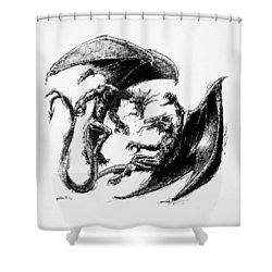 Dragon Love Shower Curtain