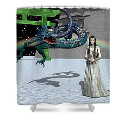 Dragon New Year Shower Curtain