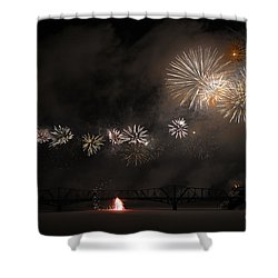 Dragon Of Light.. Shower Curtain