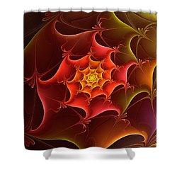 Dragon Scale Shower Curtain by Anastasiya Malakhova