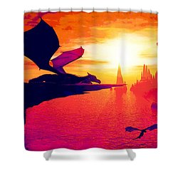 Awesome Dragon Shower Curtain