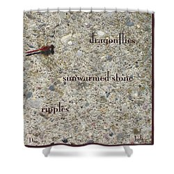 Shower Curtain featuring the photograph Dragonflies Haiga by Judi and Don Hall