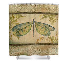 Dragonfly Among The Ferns-1 Shower Curtain