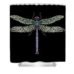 Dragonfly Bedazzled Shower Curtain
