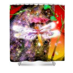Shower Curtain featuring the digital art Dragonfly by Daniel Janda