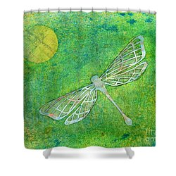 Dragonfly Shower Curtain by Desiree Paquette
