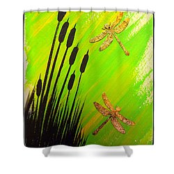 Dragonfly Dreams Shower Curtain by Darren Robinson