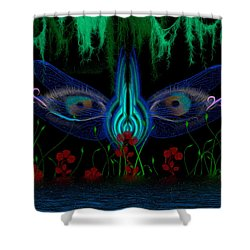 Dragonfly Eyes Series 6 Final Shower Curtain