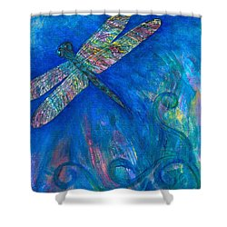 Dragonfly Flying High Shower Curtain