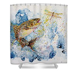 Dragonfly Hunter Shower Curtain