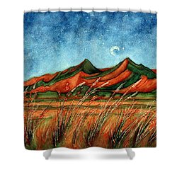 Dragoon Mountains Southwest Az Shower Curtain by Janine Riley