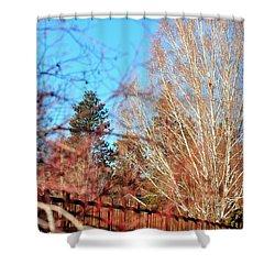 Drake Park Bridge 21655 Shower Curtain