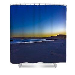 Drake's Beach Hdr Shower Curtain