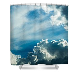 Drama In The Sky Shower Curtain by Alexander Senin