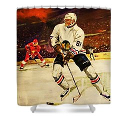 Drama On Ice Shower Curtain by Al Brown
