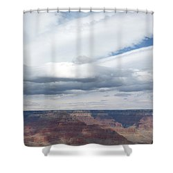 Dramatic Clouds Over The Grand Canyon Shower Curtain by Laurel Powell